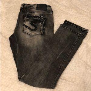 SILVER JEANS size 30 black